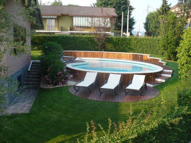 Realizzazione piscina in legno coperture - Piscine rivestite in legno ...