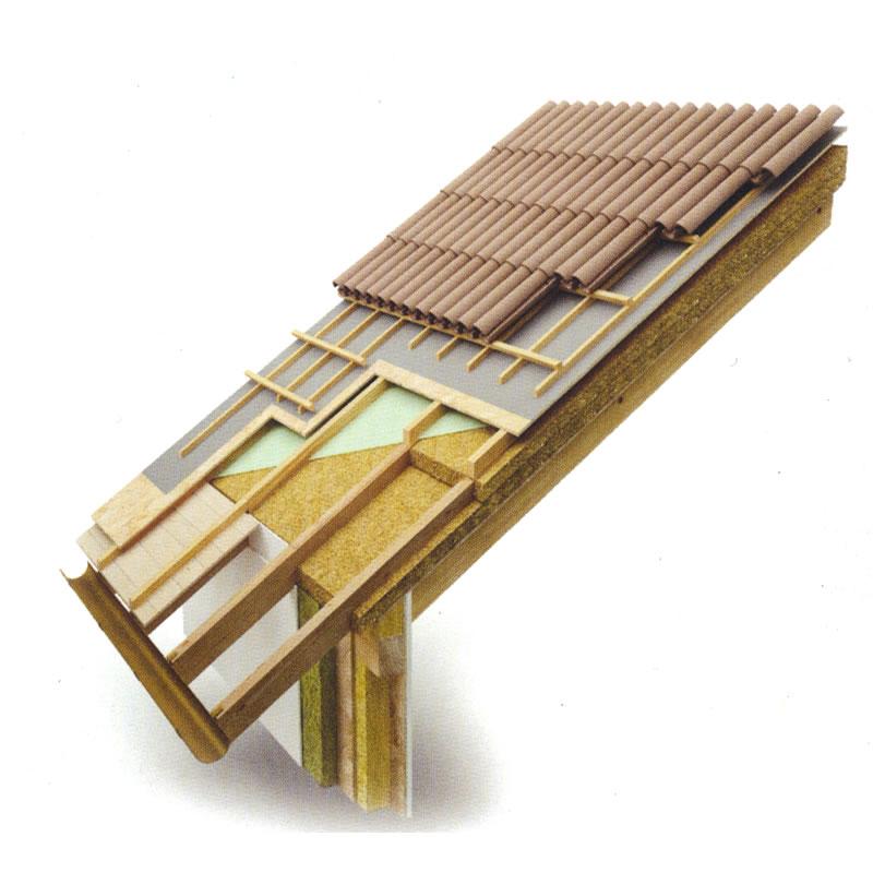 Coperture in legno edilizia pareti legno solai coperture - Materiale isolante per tetti ...